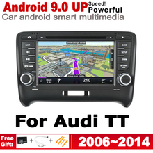 7 HD IPS Screen DSP Stereo Android 8.0 up Car DVD GPS Navi Map For AUDI TT 8J 2006~2014 MMI Multimedia Player Radio WiFi System yessun car android navigation system for fiat palio 2004 2014 radio stereo cd dvd player gps navi bt hd screen multimedia