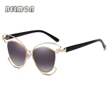 Belmon Fashion Butterfly Sunglasses Women Brand Designer Sun Glasses For Ladies Oculos Colorful-Lens Female Sunglass RS680