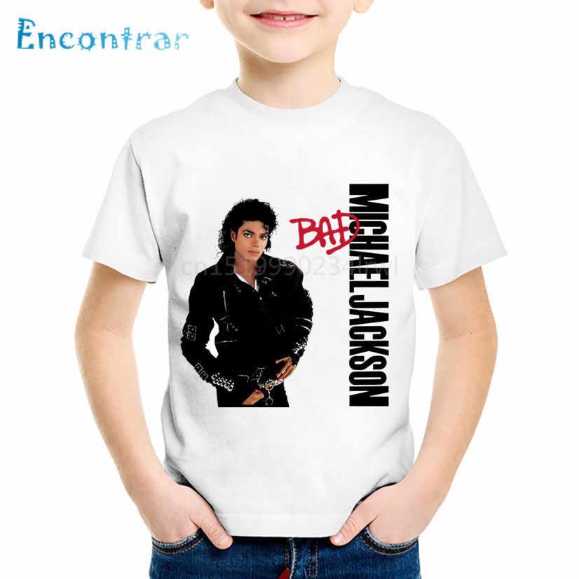 Kinderen Michael Jackson Grappige t-shirt Kids Rock N Roll Zomer Tops Baby Jongens/Meisjes Casual Kleding, ooo5145