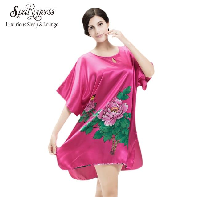 Hot Sale Short Women Nightgown Plus Size Bust 133cm Summer Style Sleep Top  Nightwear Indoor Clothing Women Sleepwear YT881 353461075