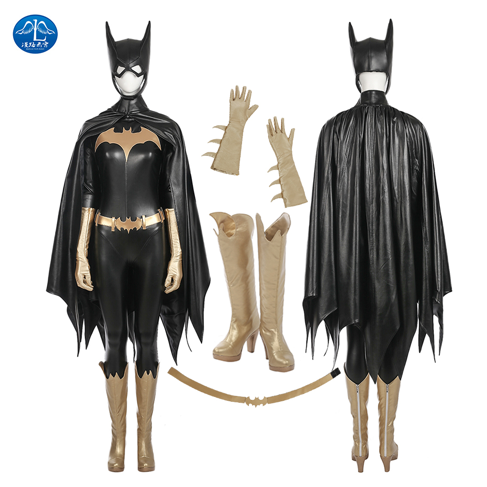 ManLuYunXiao Comics Batgirl Cosplay Batman: Arkham Knight Cosplay Costume Women Full Suit Halloween Cosplay Costume Leather Suit