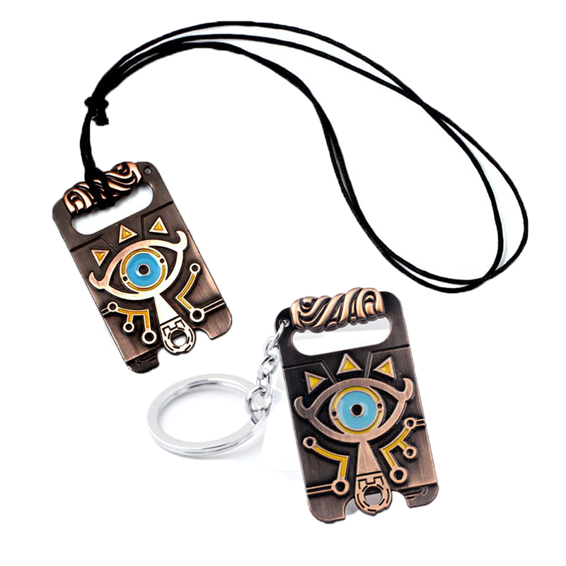 The Legend of Zelda Necklace Breath of the Wild Necklace Pendent Big eyes Logo alloy Pendant Cospaly Accessories Prop