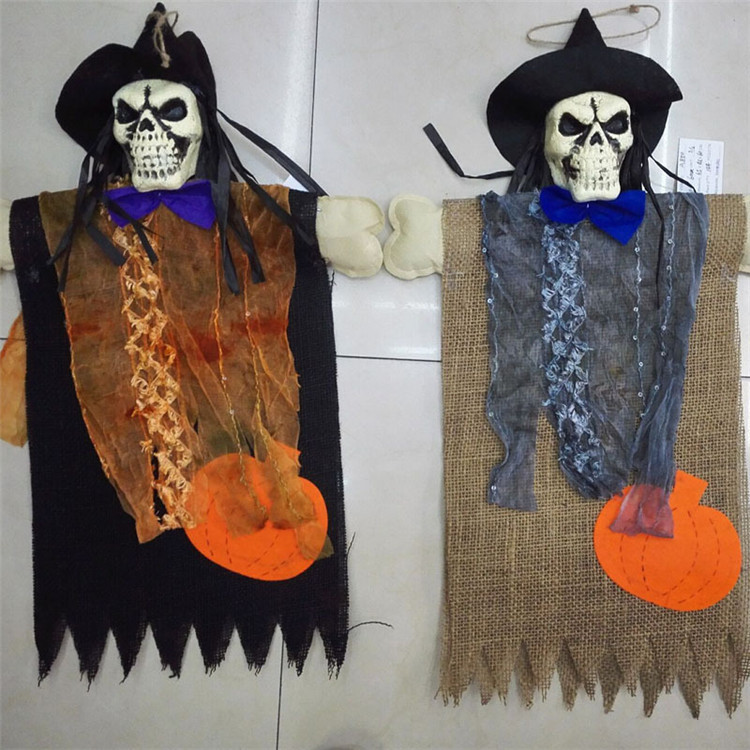 halloween prop hanging skull ghost for haunted house bar ktv yard scary decor halloween decoration outdoor party supplies fe07