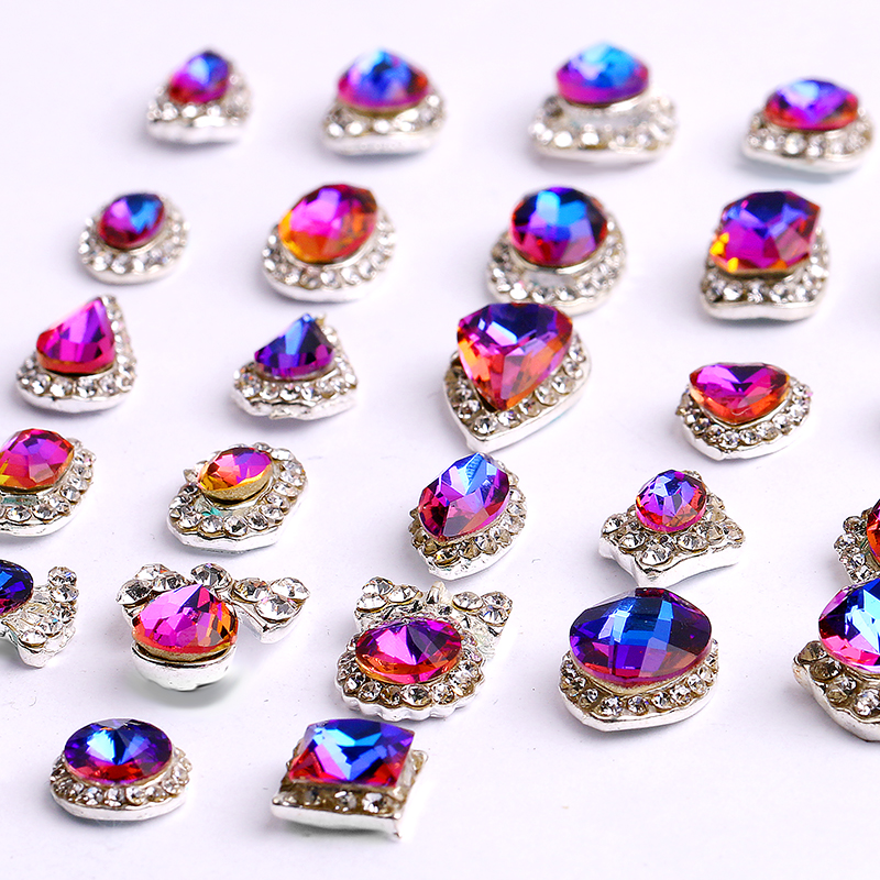 Купить с кэшбэком 100PCS 3D Luxury Shining Diamond Rhinestone Alloy Nail Art Decorations Charming Fashionable DIY Distinctive Nail Art Work
