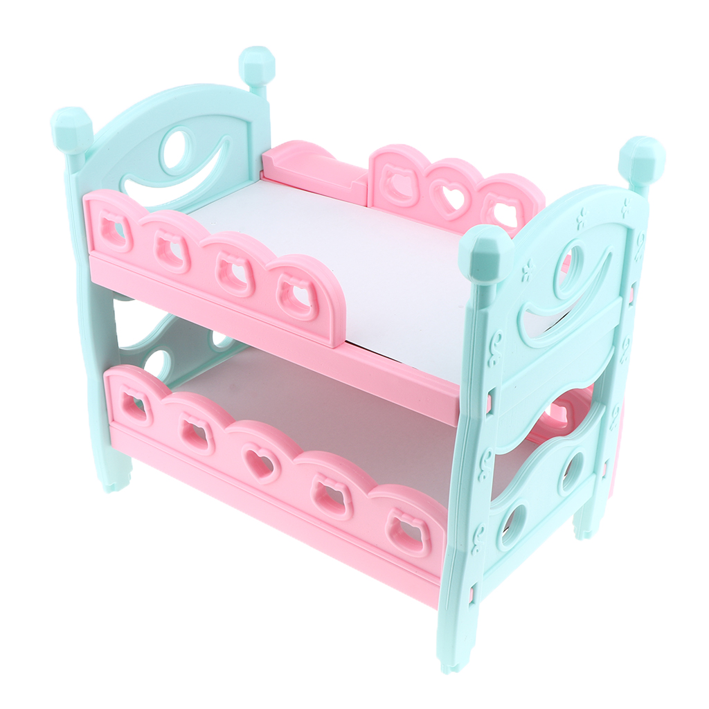 Mini Reborn Doll Bunk Bed Baby Doll Bunk Bed Newborn Baby Doll Furniture Nursery Furniture Toys for Dolls House Bedroom Decor