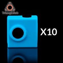 trianglelab 10PCS high quality cartridge CR10 heater bock silicone socks for MK9 heated block hotend I3 nozzle