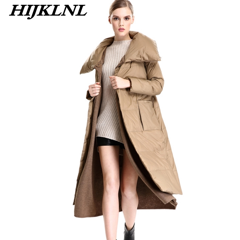 2019 New Hot Women Winter   Down     Coat   Loose Large Size Solid Long   Down   Jacket Women Thicken   Coat   Fashion Warm Outerwear CW068