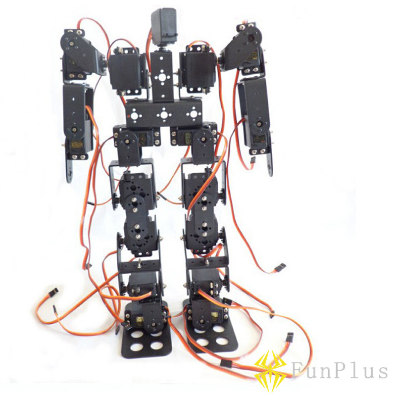 17DOF Biped Robotic Educational Robot Humanoid Robot Kit Servo Bracket 17pcs MG996R Servos Controller Buck Chip Battery new 17 degrees of freedom humanoid biped robot teaching and research biped robot platform model no electronic control system