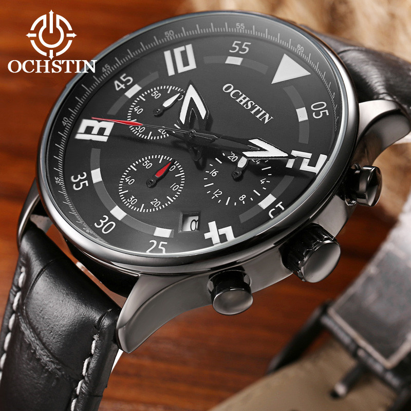 New listing OCHSTIN Men watch Luxury Brand Watches Quartz Clock Fashion Leather belts Watch Sports wristwatch relogio masculino  new listing xiaoya men watch luxury brand watches quartz clock fashion leather belts watch sports wristwatch relogio male