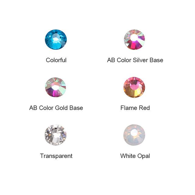 1 Bag 600pcs 3D Nail Crystal Rhinestone