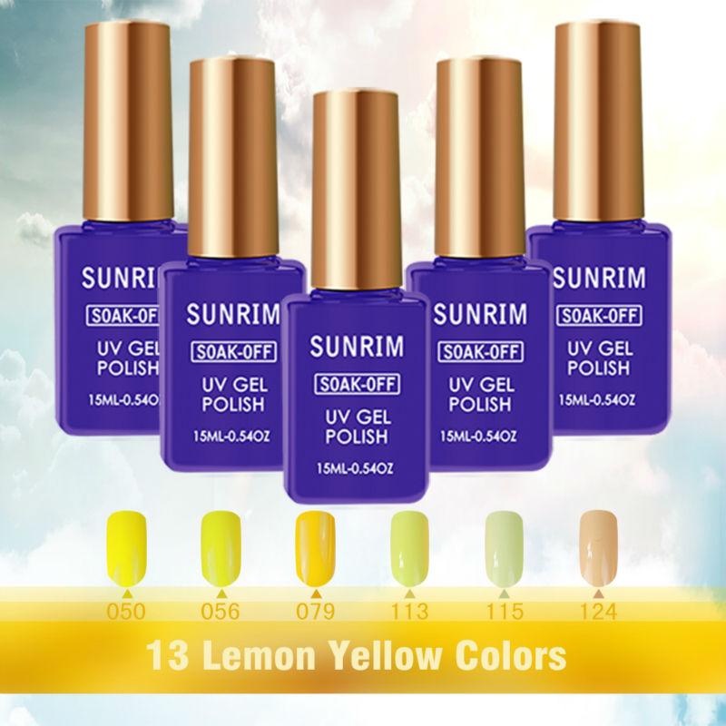 7 Uv Gel Nail Polish Yellow Colored Gels For Nails Professional Varnish Ibd 15ml Soak
