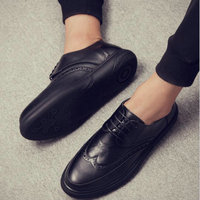 New Arrival Luxury Italian Brand Men Leather Flats Men British Brogue Dress Shoes Formal Business Oxfords Shoes for Men VV 24