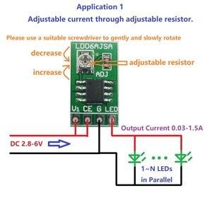 Image 3 - Conversor de corrente constante ajustável do controlador DC DC do motorista pwm do diodo emissor de luz de 10 pces dc 3 v 6 v 30 1500ma