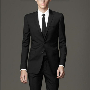 Hot Terno Wool Blended Men Suits Custom Made Men's Wedding Tuxedos Good Quality Formal Business Occasions Suits(jacket+pants)