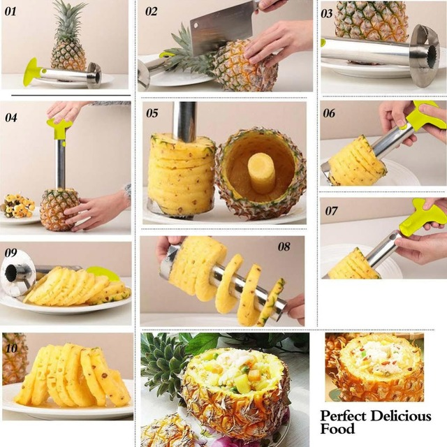 Stainless Steel Pineapple Peeler for Kitchen Accessories Pineapple Slicers Fruit Knife Cutter Kitchen Tools and Cooking Hot Sale 2