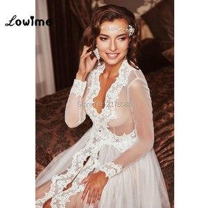 Image 2 - 2018 New Design Wedding Accessories Women Tulle See Through Bridal Bolero Custom Made Cape Dress Bolero Mariage Bolero Jacket