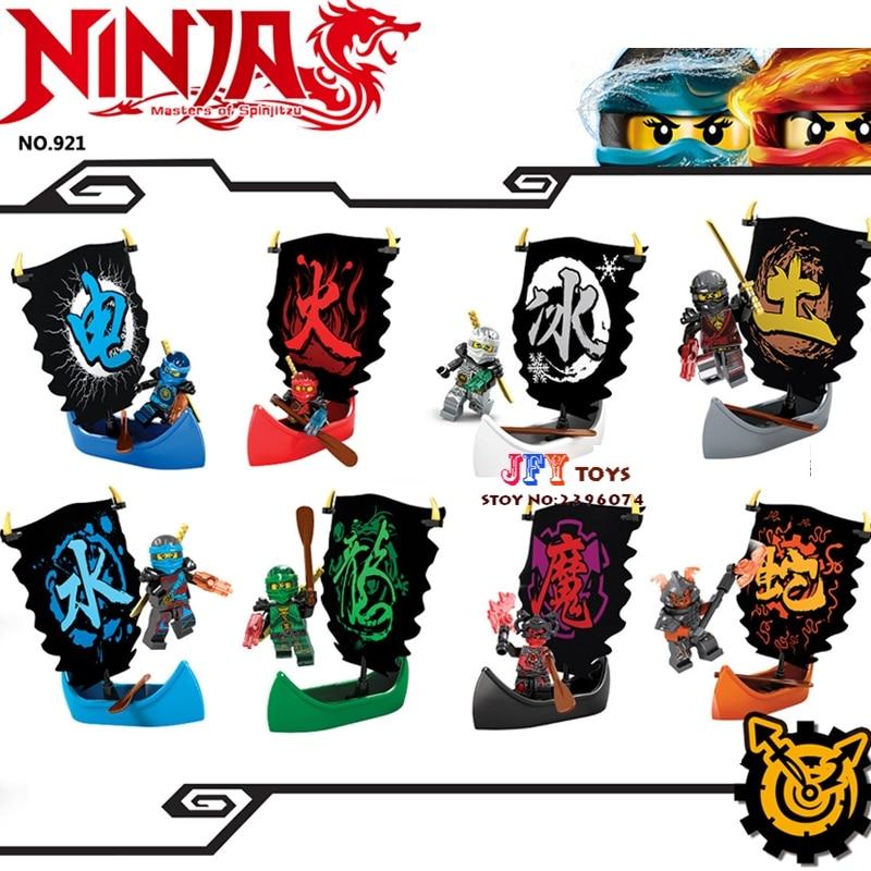 8pcs Star wars super hero marvel dc comics models kits Ninja boat building blocks bricks toys for children juguetes