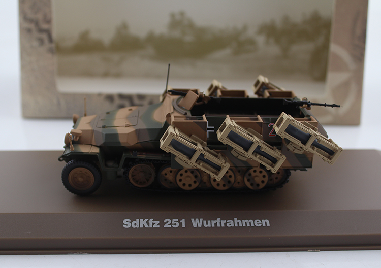 ATLAS 1/43 Germany Sdkfz.251 Half track armored vehicle 40 rockets Alloy model Collection model Holiday gift 1 43 germany pcls vw t3 van model alloy favorites model