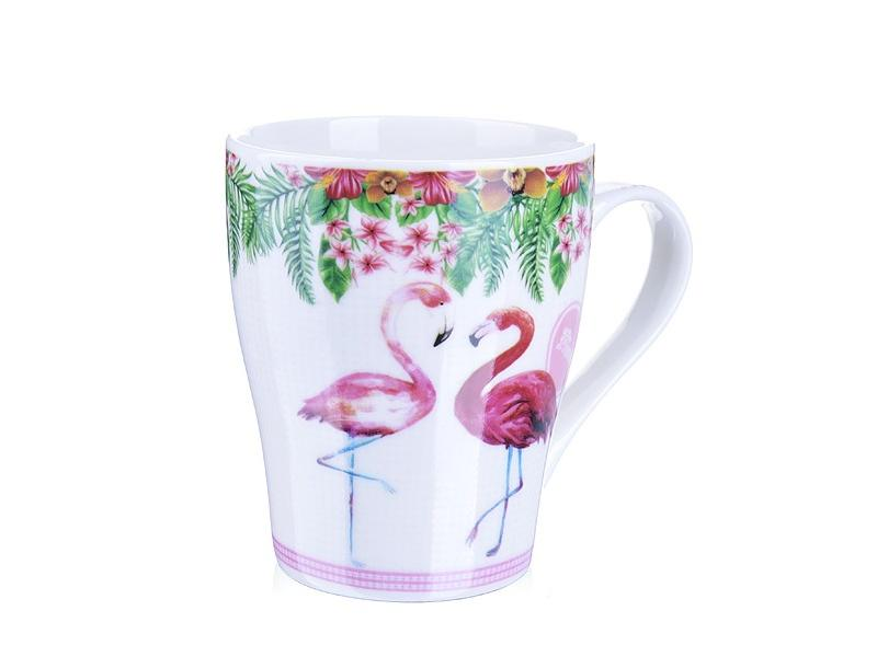 Mug LORAINE, Flamingo, 340 ml, White mug lefard 340 ml white