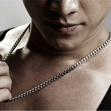Oulai777 stainless steel necklace men accessories gifts for the new year male women curb cuban link chain necklaces Gold jewelry