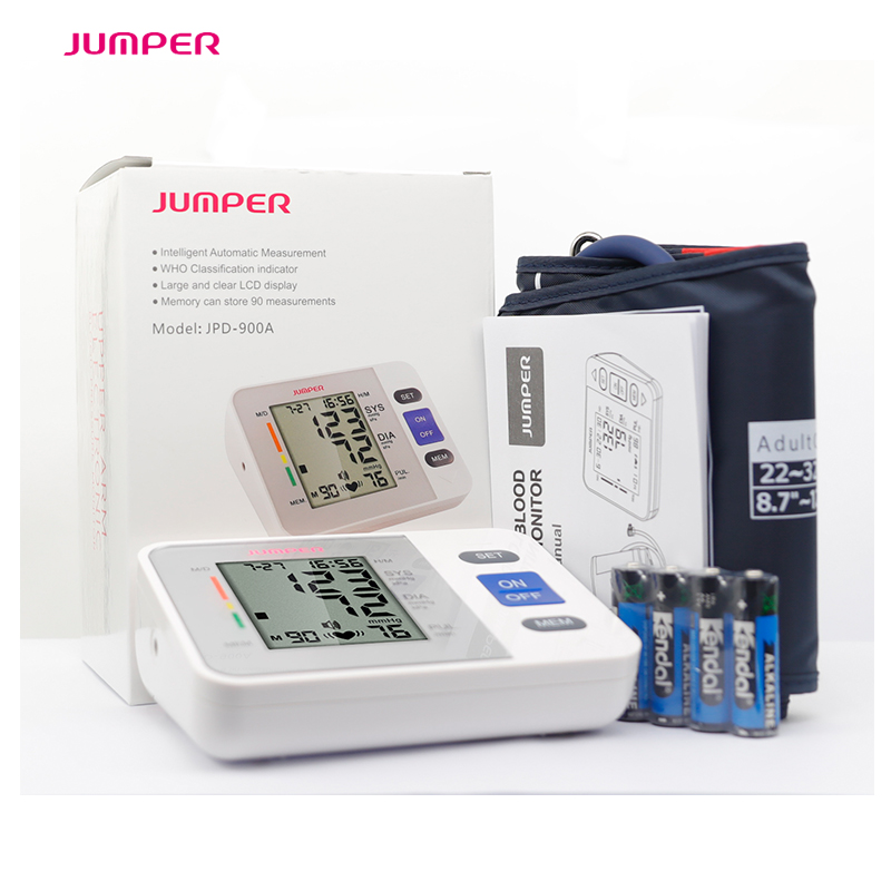 Jumper new Digital Upper Arm Electroni Blood Pressure Monitor Health Care Tonometer Meter Sphygmomanometer Portable BP Monitors voice version digital lcd upper arm blood pressure monitor heart beat meter machine spygmomanometer portable home type free ship