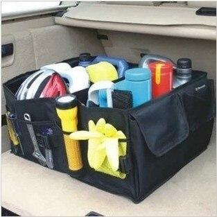 Almacenamiento Car Boot bolsas Auto plegable herramientas organizador caja suministros Locker maletero Portable llevar Reticule