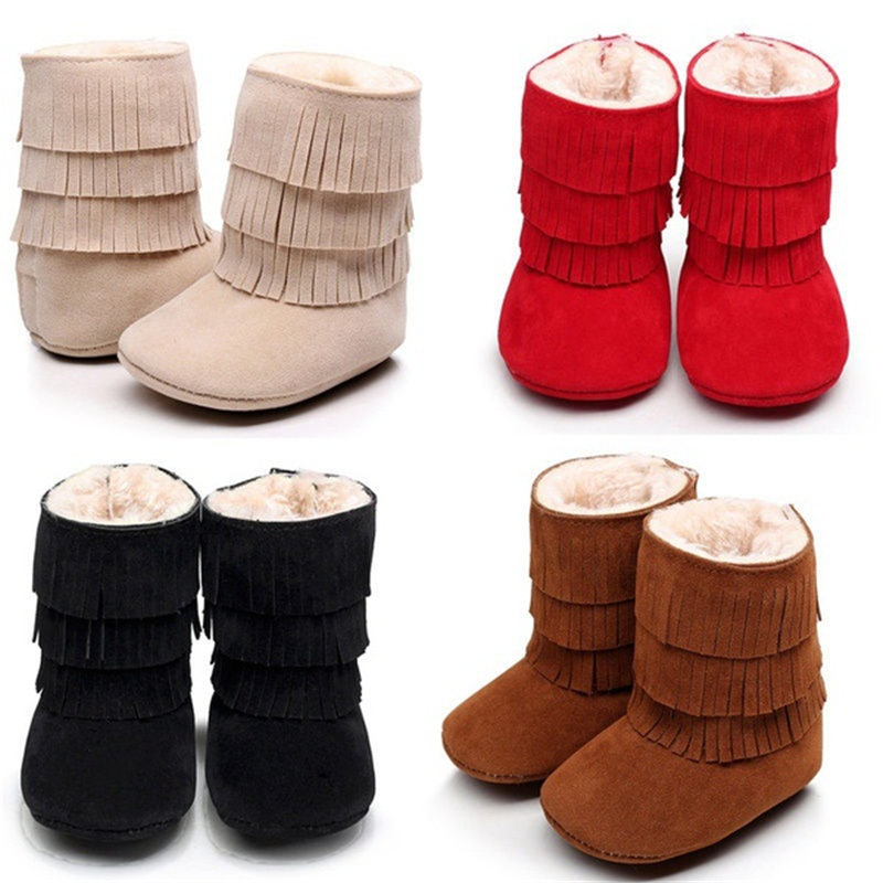 Baby Infant Child Boys Girls Warm Snow Boots Fur Winter Toddler Crib Shoes Casual Winter 0-24M Children