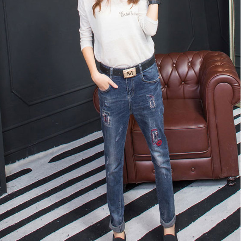 Female jeans trousers 2016 new spring and summer fashion cowboy Haren pants worn loose