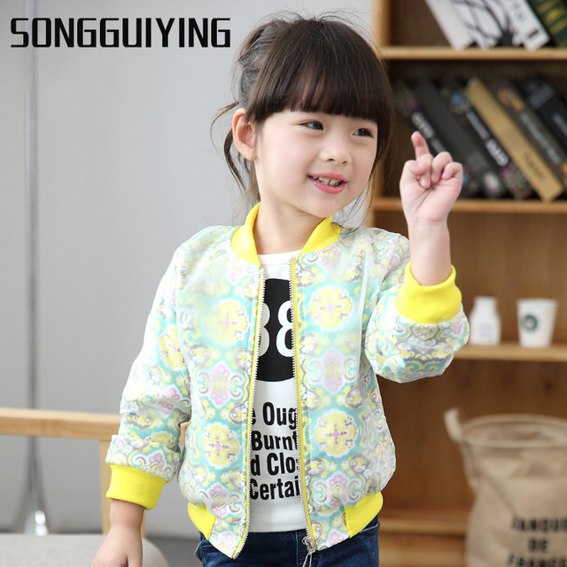 6e480e9336a SONGGUIYING A38 Spring Autumn Girls Casual Girls Jacket Windbreaker Jacket Kids  Girl Coats Outerwear Children Clothes Outerwear