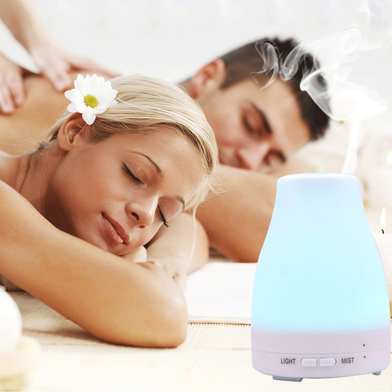 Ultrasonic Humidifier Aromatherapy Oil Diffuser Cool Mist With Color LED Lights Essential Oil Diffuser Waterless Night Lights