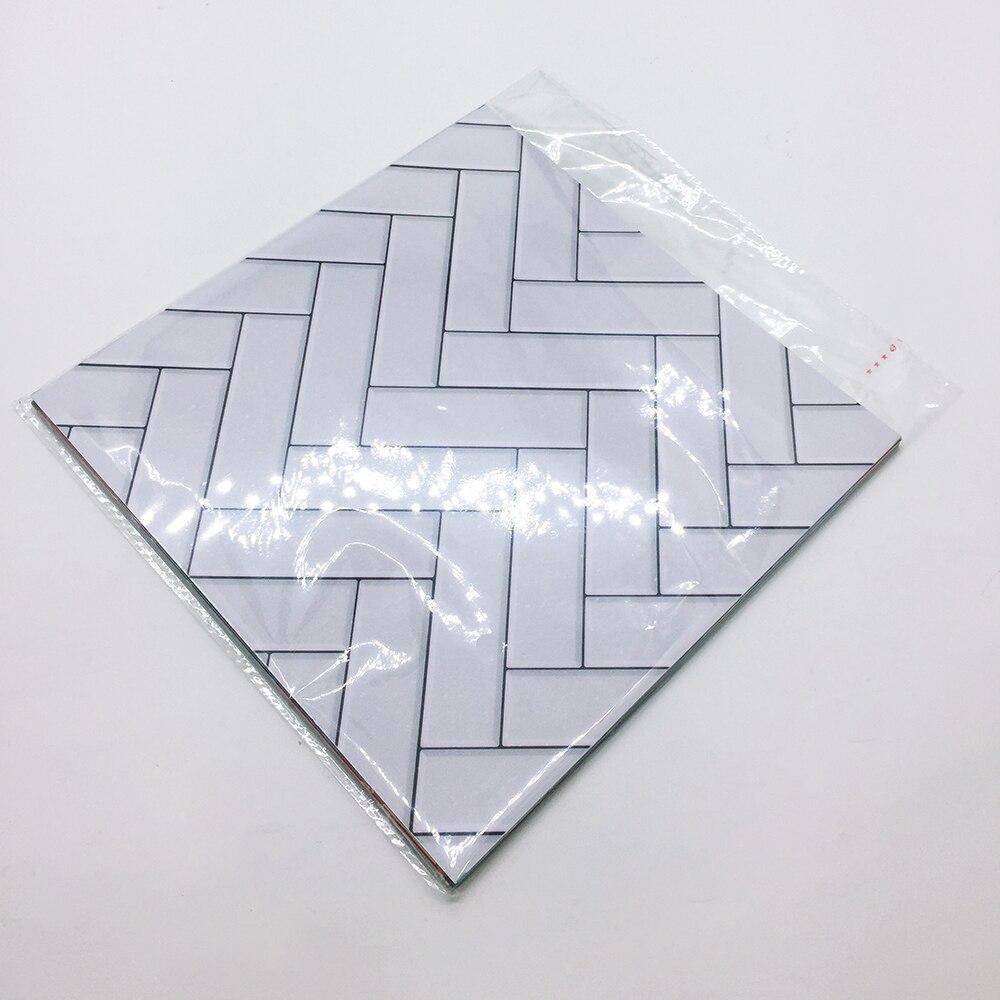 funlife custom10 15 20 25 30cm self adhesive waterproof white chevron tiles kitchen bathroom furniture floor tile sticker ts040