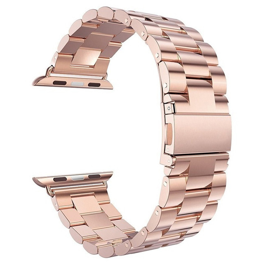 Strap For Apple Watch Band 38mm Rose Gold Stainless Steel Metal Strap Bracelet For Apple Watch Strap 38mm 42mm Mens Women
