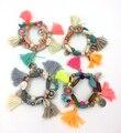 2017 Bohemia ethnic jewelry friendship bracelet vintage tassel charm bracelet  rosary beads bangle Charm Seed Bead Bracelets