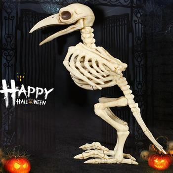 Halloween Skeleton Horror Crazy Bone Crow Skeleton Raven Anaimal Skeleton horror Halloween Prop Bird's Crow Skull Decoration