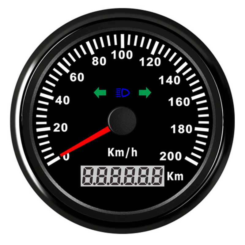 Boat Car Digital Speedometer 120 200 kmh Red LED Speed Gauge fit for BMW Honda Motorcycle