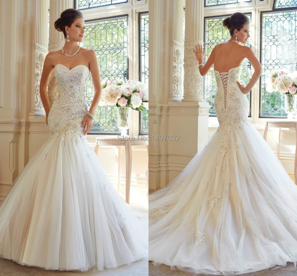 Strapless heart shaped wedding dresses great ideas for for Heart shaped mermaid wedding dresses