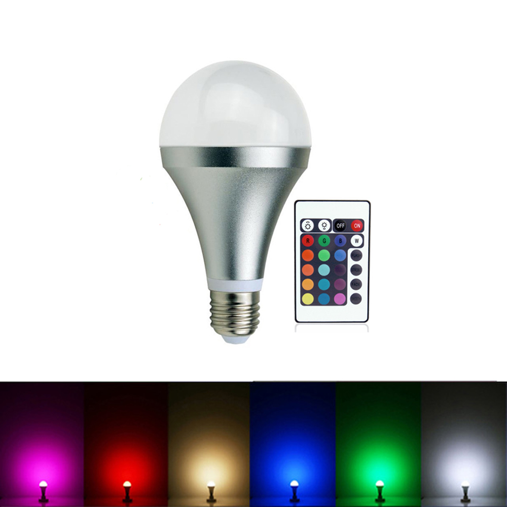 LMCO LED RGB Bulb lamp 85-265V E27 20W A80 LED Light 16 Color Changing Lamps Spotlight With Remote Control for Home Decorating