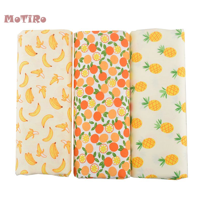 Loyal Motiro,printed Twill Cotton Fabric,half Meter,fruits Pattern Material For Baby/child/toys/handmad Quilting/sewing/sheet/pillow Arts,crafts & Sewing Home & Garden