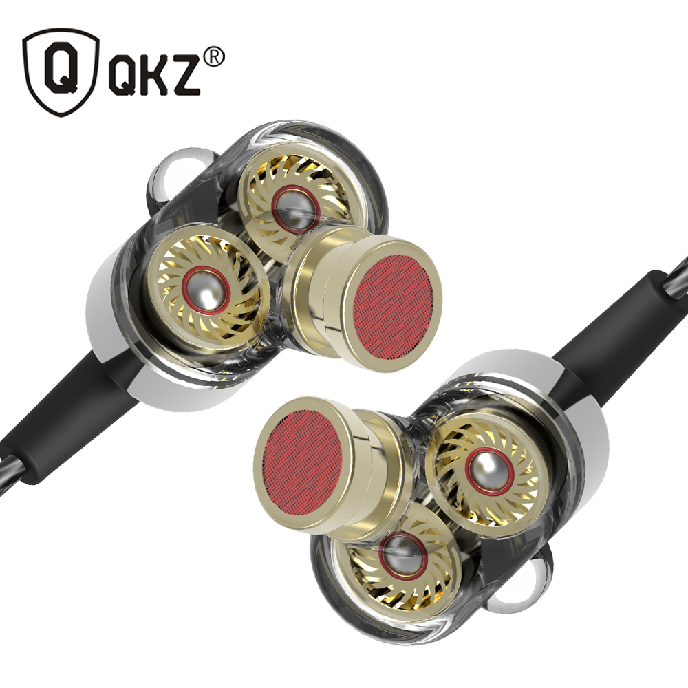 QKZ KD2 Earphone fone de ouvido auriculares audifonos Mini Original hybrid dual dynamic driver in-ear earphones fones de ouvido earphone qkz dm4 in ear earphones dynamic with mic microphone hybrid unit hifi earphone earbud headset fone de ouvido dj mp3