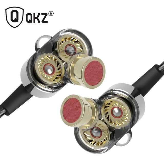 QKZ KD2 Earphone fone de ouvido auriculares audifonos Mini Original hybrid dual dynamic driver in-ear earphones fones de ouvido