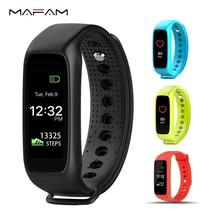 Mafam l30t Bluetooth Smart Band вызова сообщение напоминание браслет монитор сердечного ритма фитнес-трекер для смартфонов IOS и Android
