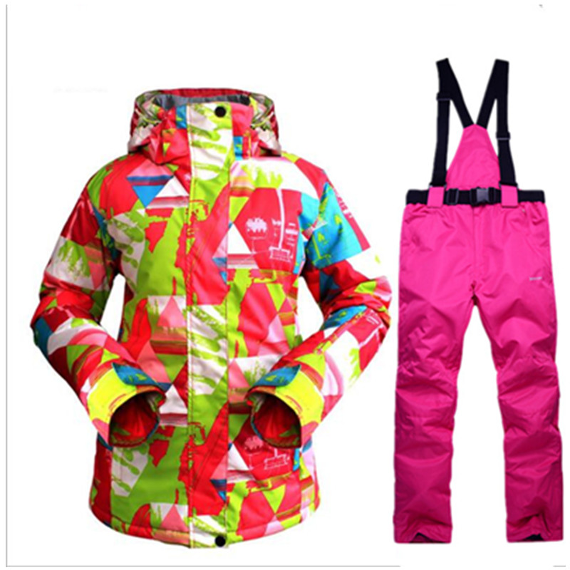 цена Winter Outdoor Sports Ski suit set for women skiing Snowboarding windproof waterproof Women's winter jacket and pants
