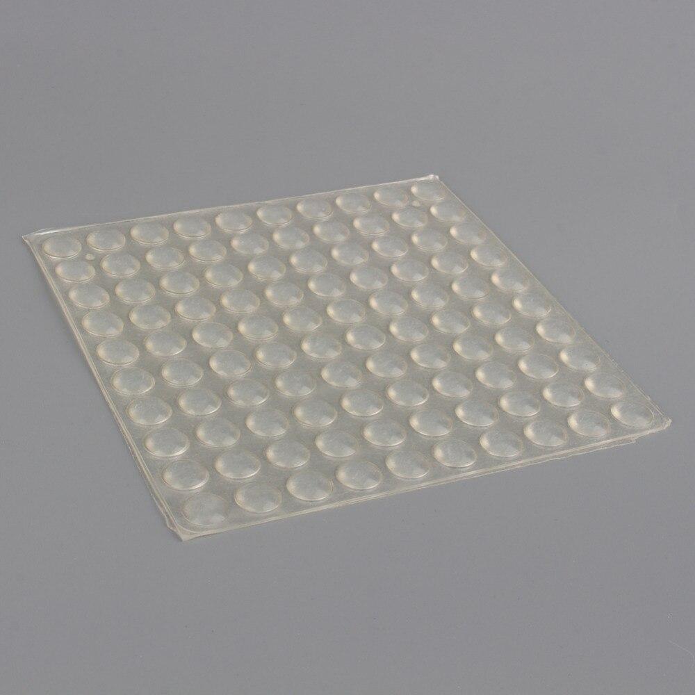 100 unids/set pies parachoques almohadilla de silicona Auto adhesivo pies parachoques protectores con forma de semicírculo puerta gabinete cajones almohadillas de amortiguación