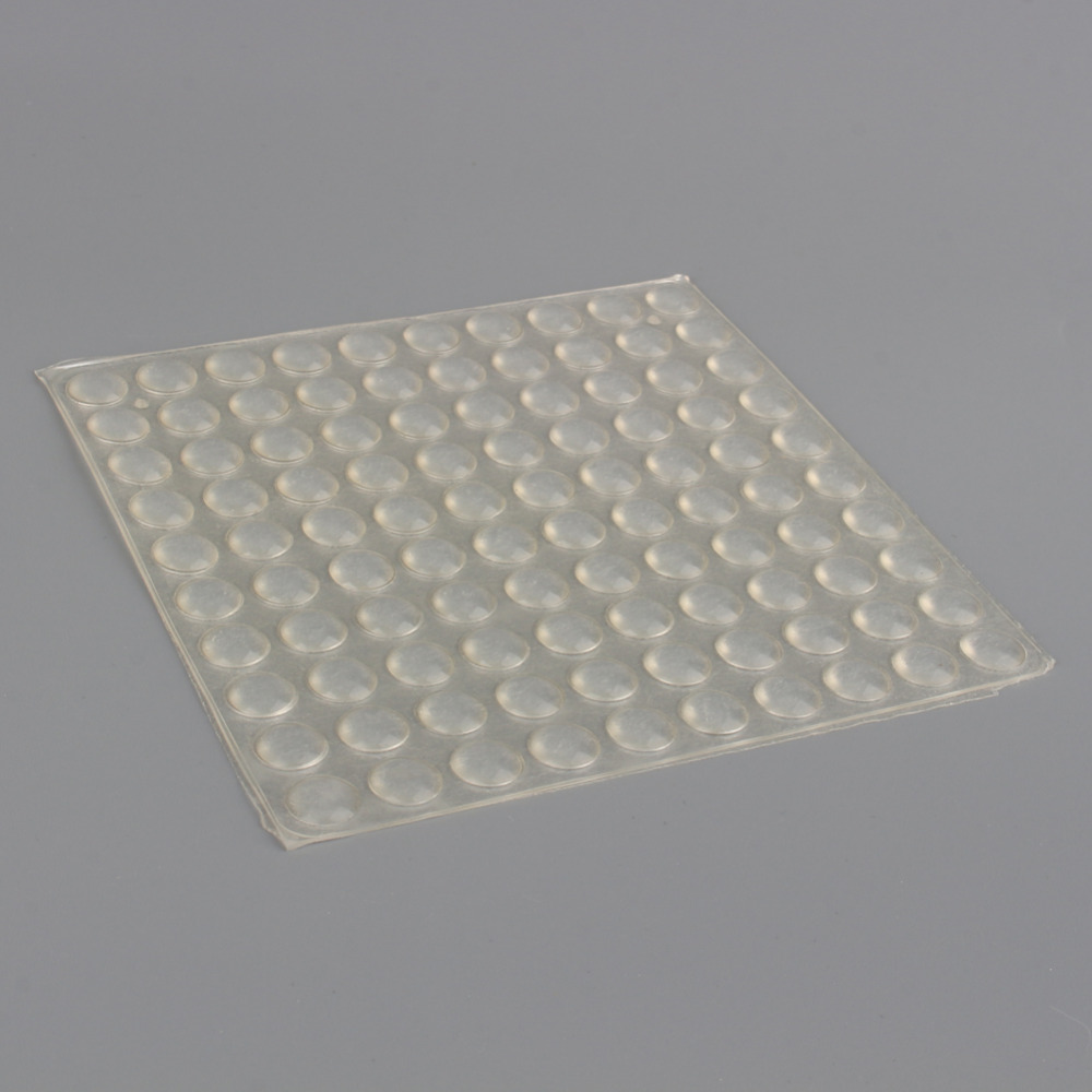 100pcs set self adhesive silicone feet clear semicircle bumpers door cabinet drawers buffer pads - Drawer bumper pads ...