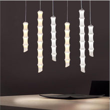 L Bamboo chandelier restaurant lamp bar club club creative personality bamboo tube bamboo long tube single-head shaped lamps LED(China)