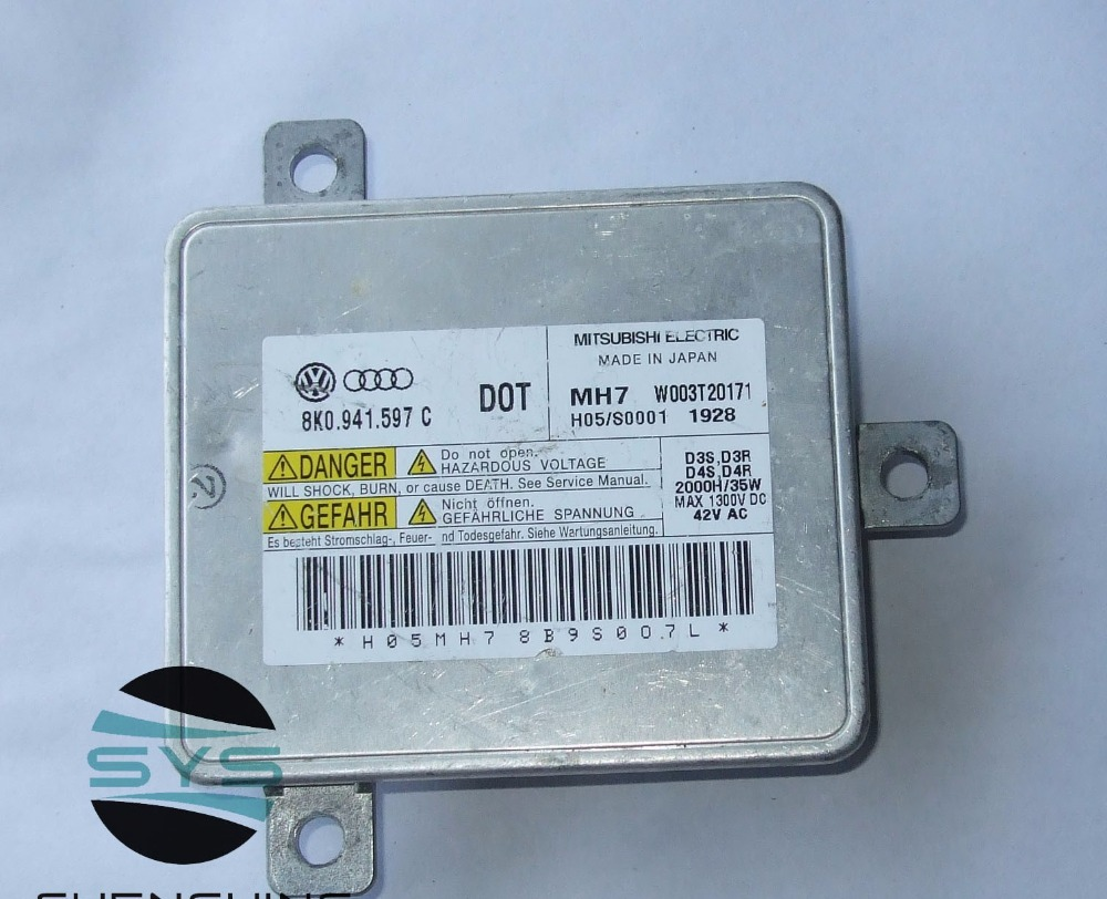 Used original Xenon Headlight Ballast D3S ECU W003T20171 8K0 941 597 C 8K0941597C