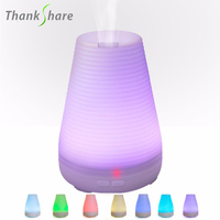 Ultrasonic Humidifiers Aroma Vaporizer Essential Oil Diffuser LED Light For Home Air Purifier Aromatherapy Diffusers Mist