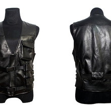 2016 Resident EVIL 6 Leon Kennedy PU Faux Vest Leather Cosplay Costume (China) b07ffae6b679