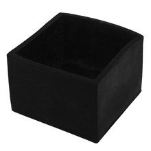 Hot Sale Rubber Furniture Chair Table Leg Square Foot Cover Protectors 50x50mm Black(China)