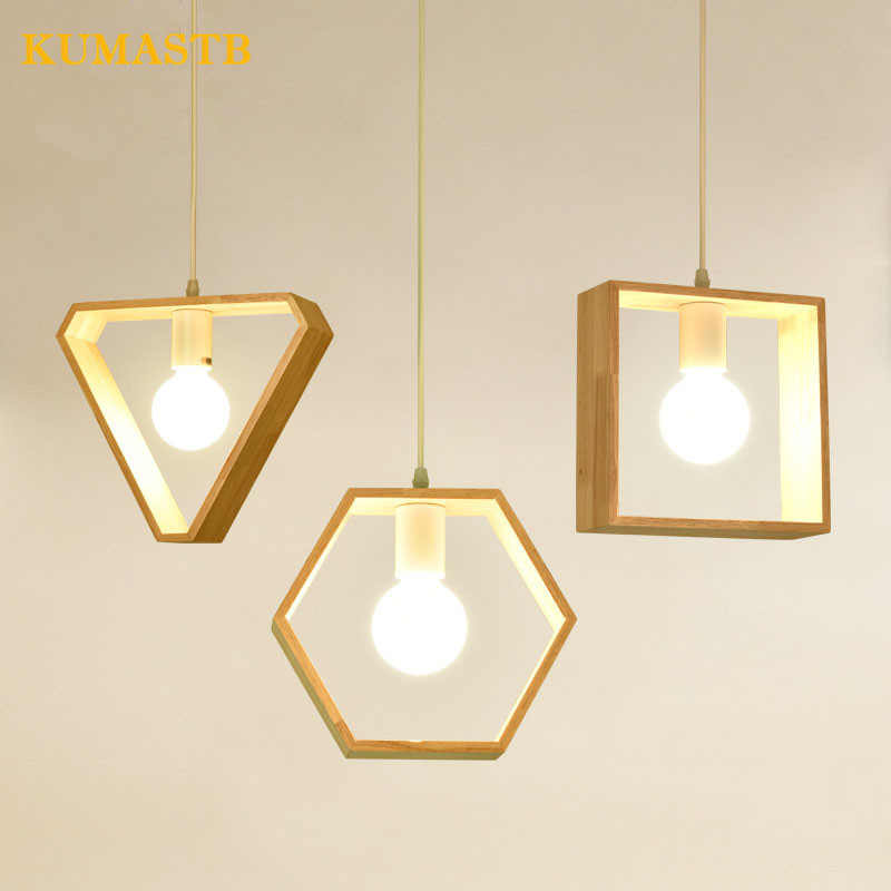 Nordic Modern Pendant Light Wood Hang Lamp Aisle Restaurant Bar Wood Pendant Lamp Home Lighting Dinning Room Light Fixture modern brief creative wood cone pendant light fixture home deco dinning room and restaurant e27 pendant lamp